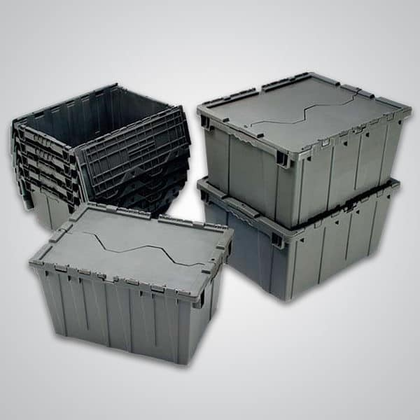 group of attached lid containers