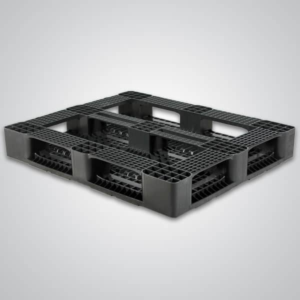 Bottom of 5-Runner 48x40 Plastic Pallet