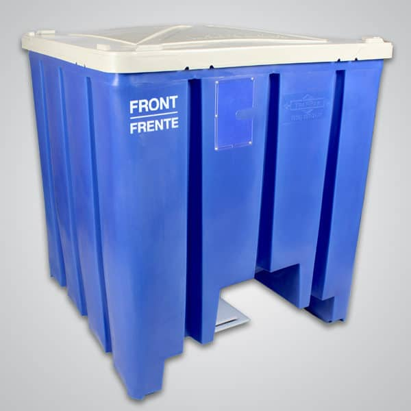 cyclone bin with lid